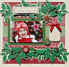 """Did you see it? Did you see the new Cricut """"Winter Wonderland"""" cartridge? And all of the other fabulous goodies she had on all day? That Ho. Christmas Scrapbook Layouts, Kids Scrapbook, Disney Scrapbook, Scrapbook Paper Crafts, Scrapbooking Layouts, Paper Crafting, Cricut Winter Wonderland, Scrapbook Examples, Scrapbook Designs"""