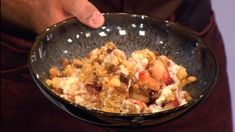 Who wants some Christmas Crumble with boozy custard? Get the full recipe here.  Catch up with Let's Do Lunch on ITV Player