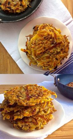 Apple and caramelized onion potato pancakes are just waiting for your dinner plate.