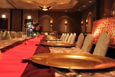 Fall wedding reception table