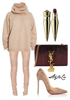 """Untitled #150"" by ccmilan ❤ liked on Polyvore featuring Balmain, Christian Louboutin, Yves Saint Laurent and Acne Studios"