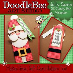 Jolly Santa Candy Bar Wrapper