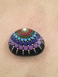 Painted stone by Cave Spring Crafts. Visit our FB page