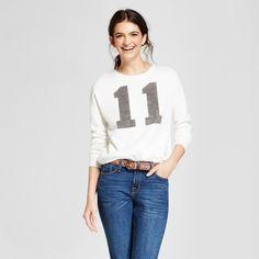 Stranger Things Women's Stranger Things 11 Graphic Sweatshirt (Juniors') - White