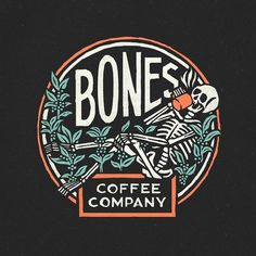 Halloween Logo Design should be exciting and eye-catchy. Create compelling monogram logos that successfully symbolize your idea. Design Logo, Badge Design, Branding Design, Hang Ten, Halloween Logo, Coffee Logo, Coffee Branding, Decaf Coffee, Coffee Brewer