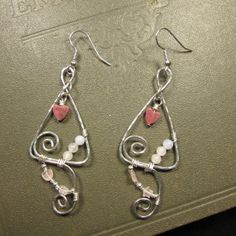 Wire Wrapped Hammered Silver Plated Earrings by NellieAnneDesigns, $14.50