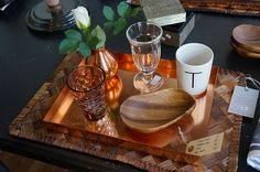 I'm in love with this copper tray! See more here: http://www.kathrinerostrup.dk/2013/08/interior-tip-maison/