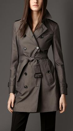 Mid-Length Cotton Silk Trench Coat | Burberry