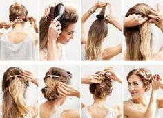 Resultado de imagem para peinados sencillos para cenas