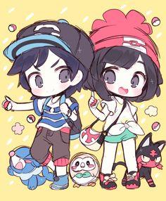 Pokémon Sun and Moon Starters Litten, Rowlet, and Popplio