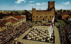 Escacs vivents a Marostica (Italia)