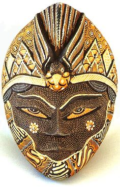 Batik Art Mask. Merak Prada