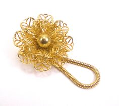 #Gold #Filigree #Flower #Brooch Pin Eye Glasses Id #Badge by #paleorama http://etsy.me/1MOzzYy via @Etsy