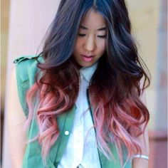 Achieve this using Directions bleach 40vol, follow with pastel pink by Directions...et voila mlp tips!