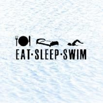Eat, sleep, swim. Pretty much my life.