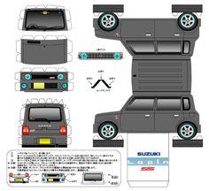 Papercraft Templates | Blog Paper Toy papercraft Suzuki Lapin G template preview Papercraft ...