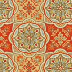 Home Decor Print Fabric- Waverly Tapestry Tile Clay