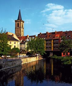 Merchants' Bridge and St. Giles Church ~ Erfurt, Germany