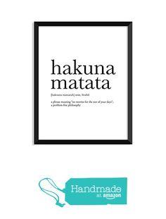 Hakuna Matata definition, movie quotes, dictionary art print, office decor, minimalist poster, funny definition print, definition poster from Serif Design Studios https://www.amazon.com/dp/B01MTZ2CFB/ref=hnd_sw_r_pi_dp_ESzRybBYX3XJ7 #handmadeatamazon