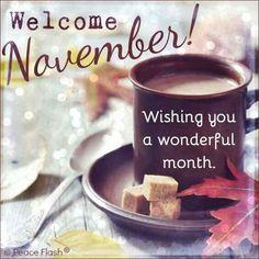 Welcome November Wishing You A Wonderful Month
