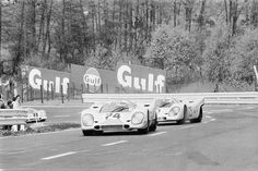 Joe leading Pedro at Spa during the 1970 1000klm race .