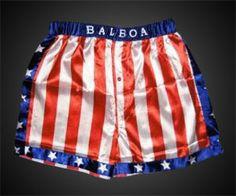 Rocky Balboa American Flag Boxing Shorts