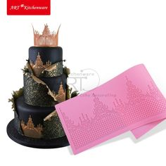 Crown Cake Lace Mat Silicone Mold
