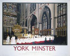 'York Minster', LNER poster, 1930.