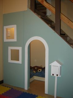 Great use of some wasted space! and the kid can feel like harry potter, with a spot under the stairs!