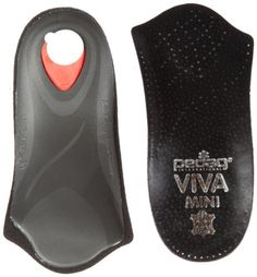 Pedag Viva Mini Orthotic with Semi-Rigid Arch, Met & Heel Pad, Leather, Black, US W9/EU39 by Pedag. $19.36. Genuine vegetable tanned leather. thin profile. ideal for shoes with limited toe room. Made in Germany. Pedag's 3/4 orthotic with metatarsal pad, semi-rigid arch support and heel cushion.. Relieves tired feet. complete arch support when standing and moving. Awarded the American Podiatric Medical Association Seal of Acceptance for promoting foot health. Viva mini: viva mini ...