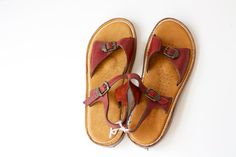 Size 75  Vintage 70's FRYE Sandals  New With by PomegranateVintage, $75.00