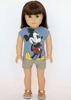 American Girl doll upcycled vintage Mickey by EverydayDollwear, $9.00