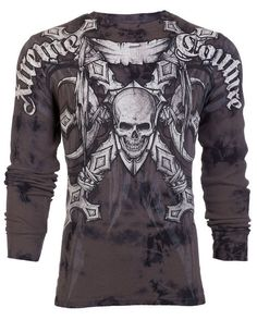 Xtreme Couture AFFLICTION Men THERMAL T-Shirt BATTLE-X Skull Biker UFC M-3XL $58 in Clothing, Shoes & Accessories, Men's Clothing, T-Shirts | eBay