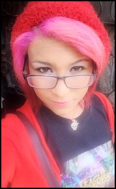 #hair # pink #glasses