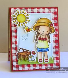 Every Day Is a Picnic stamp set and Die-namics, Gingham Background, Fresh Cut Grass Die-namics, Pierced Rectangle STAX Die-namics, Rectangle STAX Set 1 Die-namics - Melody Rupple #mftstamps