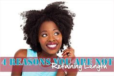 4 Reasons You Are Not Retaining Length - http://www.blackhairinformation.com/growth/hair-growth/4-reasons-you-are-not-retaining-length/