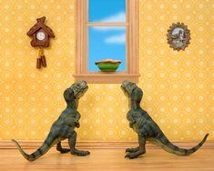 I Teach My Daughter Photography By Creating Domestic Dinosaur Scenes - BoredPanda