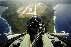 F-16 taking off the North End of the runway at Andersen AFB in Guam