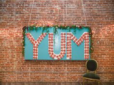 YUM donut wall! love.