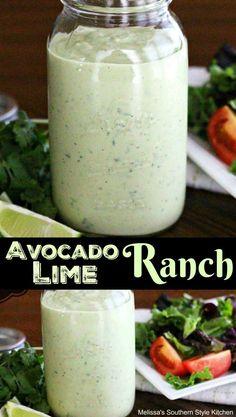 Homemade Avocado Lime Ranch Dressing