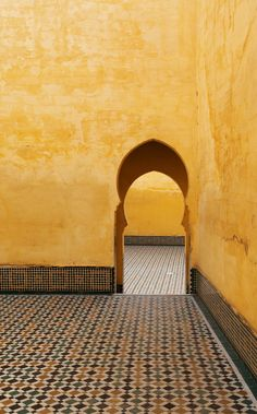 YELLOW WALLS, an old mosque in the city of Meknes in Morocco. by armando cuéllar on 500px