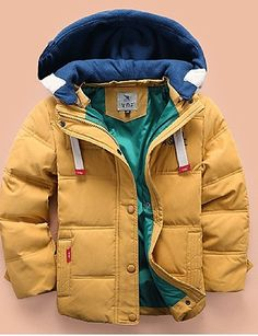 Warm fall - winter jacket for boys. It Comes in blue, green, orange and mustard yellow colors at just $19.99. Click on the picture to see more