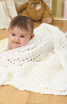 Angelic Baby Blanket | Free Pattern from AllFreeCrochetAfghanPatterns.com