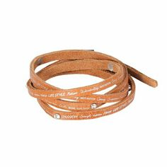 Horze Jacey Leather String Bracelet with Text