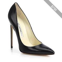 Brian Atwood Leather Point-Toe Pumps