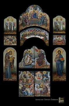 Russian Orthodox, Byzantine Icons, Orthodox Icons, Religious Art, Cyprus, Painting & Drawing, Catholic, Medieval, Scene