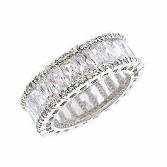Anniversary Bridal Cz Diamond Eternity Ring Jewelry . $97.00