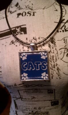 Is it school spirit or just two of my favorite things? The world will never know. // Blue University of Kentucky Wildcat necklace