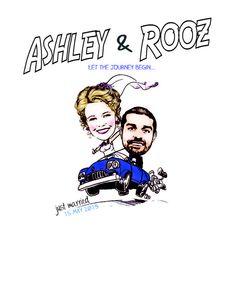 Wedding sign in poster! Custom Artwork by Ashley Nicole Inc.  www.ashleynicoleinc.com