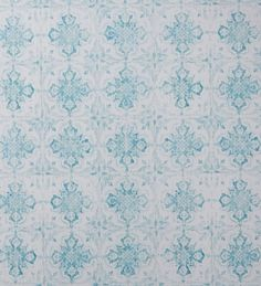 Papel pintado vintage con azulejos arabescos verde agua y blanco - 2020524